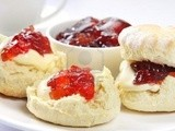 Scones with Strawberry Jam and Clotted Cream recipe