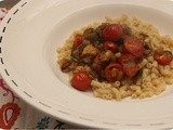 Pasta with Chicken, Cherry Tomatoes en Zucchini