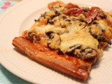 Pizza Minced Meat with Mushrooms and Cheese