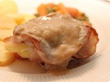 Pork Escalope stuffed with Apple, Onion and Bacon