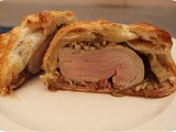 Puff Pastry with Tenderloin, Mushrooms and Pâté