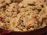Risotto with Chicken, Leek and Mushrooms