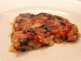 Rösti with Mushrooms, Red Pepper and Ham