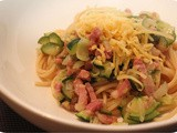 Spaghetti with Zucchini and Bacon