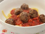Tagliatelle with Meatballs in Tomato Sauce