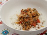 Thai Curry with Chicken, Mushrooms and Red Pepper