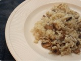 Vega: Risotto with Mushrooms and Herb Cream Cheese