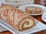 Chai Tea Roll Cake