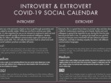 Covid-19 Extrovert and Introvert Social Schedule