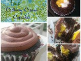 """Faux"" Cadbury Cream Cupcakes {April Fools Day}"