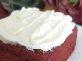 Red Velvet Brownies with White Chocolate Buttercream