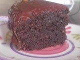 Skinny Double Chocolate Bundt Cake with Ghiradelli Mini Chocolate Chips