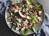 Steak, Apple & Bleu Cheese Salad