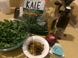 Hotel room kale salad