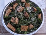 Recipe: Kale Caesar Salad with Creamy Dressing