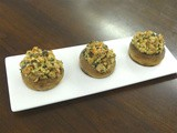 Boursin-Herb Stuffed Mushrooms
