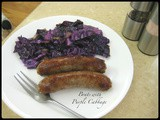Brats with Purple Cabbage
