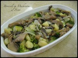 Broccoli and Mushrooms al Pesto