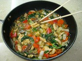 Chinese Chicken with Peppers & Bokchoy