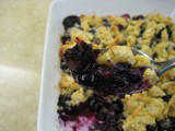 Einkorn Blueberry Crumble