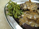 Flank Steak in Mushroom Wine Sauce