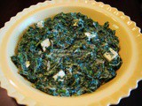 Indian Creamed Spinach (Saag Paneer)
