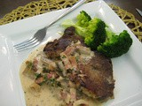 Pork in Parsley-Bacon Cream