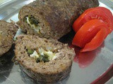 Roasted Poblano & Cheese-Stuffed Meat Roll