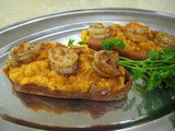 Shrimp-Topped Chipotle Sweet Potatoes