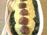 Spinach Mayonado with Sausage Meatballs
