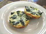 Spinach Mini Pizzas