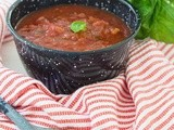 A Fresh Chunky Basil Tomato Sauce and Announcing Black and White Wednesday #138
