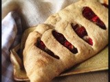 Fougasse Stuffed With Roasted Red Pepper