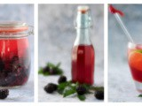 Homemade Blackberry Liqueur and a Recipe for Blackberry Lime Spritzer