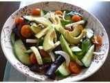 Tangy Honey Lemon Dressing with Avocado Salad