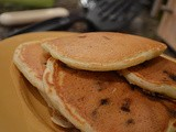 Chocolate Chip-Cranberry Pancakes with Flaxseed