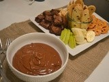 Baked Sunday Mornings - Chocolate Peanut Butter Fondue