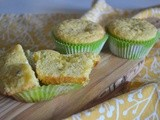 Baked Sunday Mornings - Lemon Pistachio Cornmeal Muffins