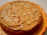 Baked Sunday Mornings - Pumpkin Almond Cake w/Almond Butter Frosting