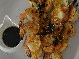 Crusty Grilled Shrimp with Soy-Sesame Sauce