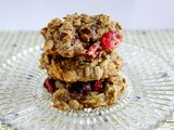 Banana-cranberry oatmeal cookies