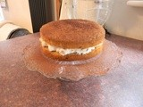 Amaretto sponge filled with delicious amaretto cream