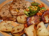 Pan-fried Pork Chops, Roasted Potatoes And Mixed Veggies Recipe : Home Comfort
