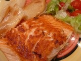 Pan Fried Un-Skinned Salmon Fillets: Low Stress Healthy Fish Dish