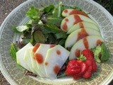 Apple and Kohlrabi Salad with Roasted Strawberry Balsamic Vinaigrette