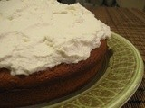 Blood  Orange Cake with Honey Whipped Cream