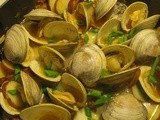 Chorizo Spiked Clams with New Potatoes