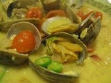 Clams in a Coconut Green Curry Broth