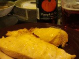 Ginger Cardamom Chicken Marinated with Pumpkin Ale