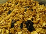 Ginger Walnut Granola with Dried Cherries